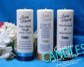 Memorial Candle Personalized