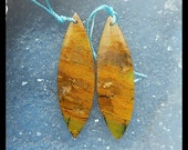 Yellow Opal Gemstone Earring Bead,44x13x4mm,6.99g