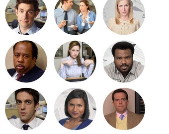 The Office Inspired 1 Inch Round Stickers