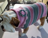 Dog Sweater  X Large English Bulldog length 17 inches long