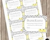 Elephant diaper raffle ticket, twin elephant diaper raffle, yellow and gray diaper raffle, elephant baby shower, printable yte1