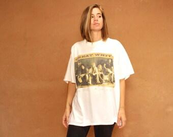 90s vintage GREAT WHITE t-shirt POP rock tour band shirt
