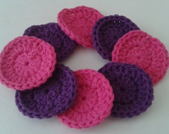 Reusable Cotton Rounds,Makeup Removers, Reusable Crocheted Facial Scrubbies Set of 8