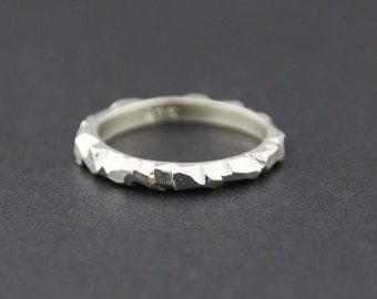 Mini Facet Ring: Sterling Silver, Medium