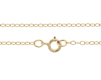 """14Kt Gold Filled 2x1.5mm 18"""" cable neck chain - 1pc Finished chain 10% discounted 14Kt Stamped (4221)/1"""