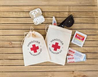 """Hangover Kit Bags - """"Hangover Prevention Kit"""" favor bags - Bachelor Party Bags - Wedding Hangover Kits - Hangover Kit Bags - Bachelorette"""