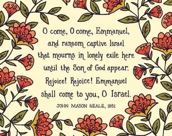 O Come, O Come Emmanuel Hymn Art Print