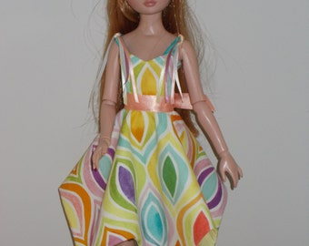 "OOAK doll clothes for Ellowyne Wilde - ""Party Pastel"""
