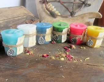 Spell Candles - CHOOSE 3 - witchcraft wicca wiccan candles pagan occult altar supplies scented magick candles spells
