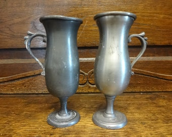 Vintage French Pewter Small Jug Cup Mug Vase Cup Serving Decorative Kitchen Collection circa 1900-10's / English Shop