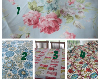 Shabby chic tablecloth - pink blue floral mandala geometirc ottoman tile Turkish ethnic print 104 120 144 84 inch large custom tablecloth