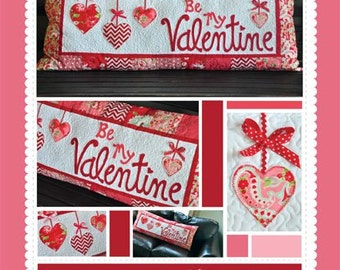 Be My Valentine Bench Pillow Pattern designed by KimberBell