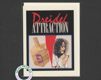 DREIDEL ATTRACTION - Funny Hanukkah - Hanukkah Card - Funny Holiday - Funny Card - Card for Friend - Hanukkah - Pop Culture Card - Item X077