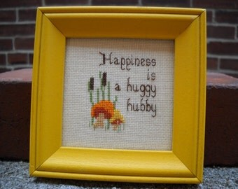 Framed Mini Embroidery.  Hubby
