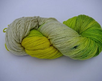Hand Dyed Pure Alpaca Yarn Worsted Weight 480 yards