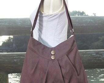 Holiday On Sale 10% off brown cross body bag / messenger bag / shoulder bag / diaper bag  - cotton canvas
