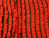 Red & Black Ruffle Knit