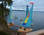 Aqua Three Boat Whirligig