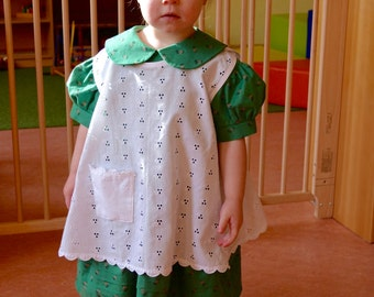 1950's little girl's dress with apron