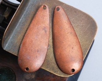 Set of 2 Vintage copper spoon bait, plate, pendant, lure