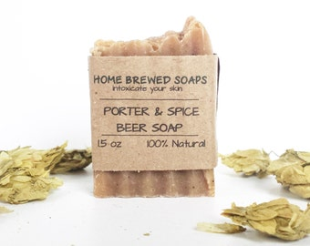 Beer Soap - Porter & Spice - Gifts for Him - Spice Soap - Beer Soap - Natural Soap - Gifts for Beer Lovers - Soap with Beer - Gifts for Men
