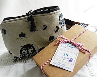 Kit make up bag, owls