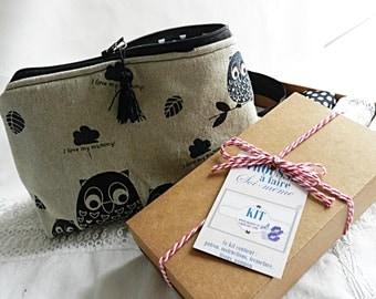 Kit make up bag, owls