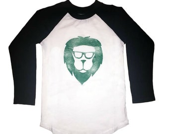 Lion Organic Toddler/Kids Baseball Shirt