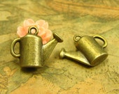 20 pcs Watering Can Charms Antique Bronze 16x13mm CH2541