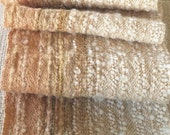 Sandy Beige and Creamy Apricot Handwoven Scarf