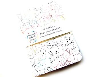 Rainbow Constellations A6 notebook, Journal, Jotter, Sketchbook