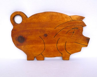 Vintage Kitsch PIG CUTTING BOARD