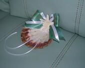 Ring Bearer Shell For a Beach Theme Wedding or Destination Wedding