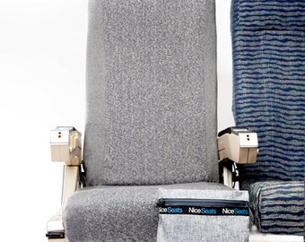 Washable Travel Seat Cover- Organic Heather Gray-Airplane Seat Cover- Nice Seats- Great on Planes, Buses, Trains & Movie Theaters