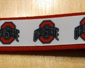 Ohio State University Inspired Key Fob/ Wristlet on Red