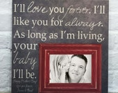 I'll Love You Forever I'll Like You For Always As Long As I'm Living My Baby You'll Be, Baby Room kids room, Nursery,  Baby Shower Gift