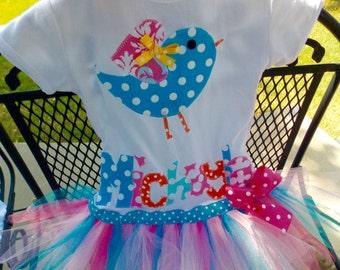 Bird tutu dress Girls tutu Birthday  tutu1 st birthday