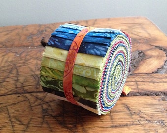 Anthology Batik Fabric BeColourful Story Strips Jelly Roll, Quilting BA212-168
