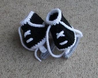 Baby Hockey Skates, Baby Hockey, Pregnancy Reveal Announcement, Hockey Skate Booties, Baby Hockey Outfit , Skate Booties, Baby Booties