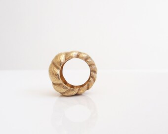 Golden Rapunzel - handmade sterling silver ring
