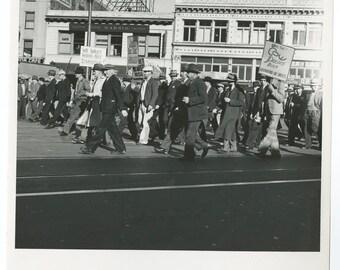 American Labor Movement - Vintage 8x10 by Dorothea Lange - San Francisco, Ca