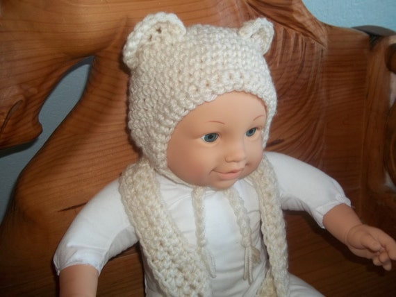 18 Inch Baby Dolls clothes hat and scarf crochet out of off