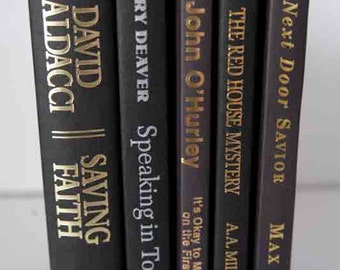 Black book bundle,  5 Hardcover Black Books, Book Decor, Instant Library