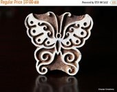 THANKSGIVING SALE Hand Carved Wood Block Stamp- Butterfly