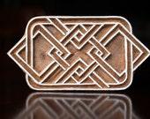 Textile Stamp, Pottery Stamp, Indian Wood Stamp, Tjaps, Blockprint Stamp- Geometric Motif