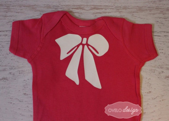 Big Bow on Black bodysuit can be printed in a variety of colors