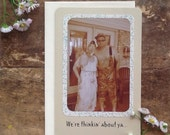 Ma's Get Well Greeting Card - hillbilly card - redneck card - funny family photo card - old photo card