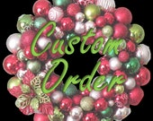 Reserved- Green, White, Black Ornament Wreaths 24""