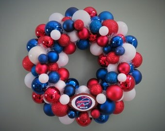 BUFFALO BILLS Wreath Pro Teams Football Ornament Wreath