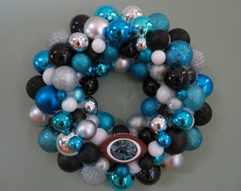 CAROLINA PANTHERS Team Ornament Wreath